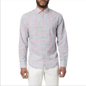Good Man Brand Men's Trim Fit Plaid Sport Shirt